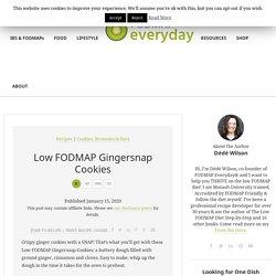 Low FODMAP Gingersnap Cookies - FODMAP Everyday