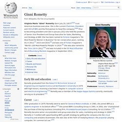 Ginni Rometty - Wikipedia, the free encyclopedia