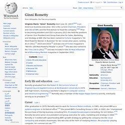 Ginni Rometty - Wikipedia, the free encyclopedia