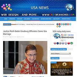 Justice Ruth Bader Ginsburg Officiates Same-Sex Marriage