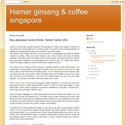 Hamer ginseng & coffee singapore: Buy Japanese Candy Online, Hamer Candy USA