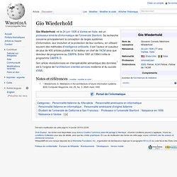 Gio Wiederhold