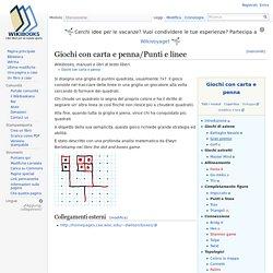 Giochi con carta e penna/Punti e linee - Wikibooks, manuali e libri di testo liberi