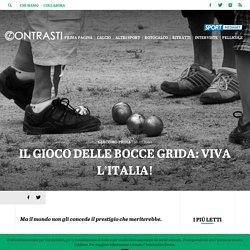Il gioco delle bocce grida: viva l'Italia!