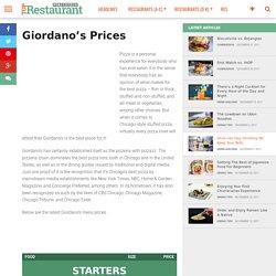 Giordano's Prices