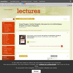 Serge Paugam, Camila Giorgetti, Des pauvres à la bibliothèque. Enquête au Centre Pompidou