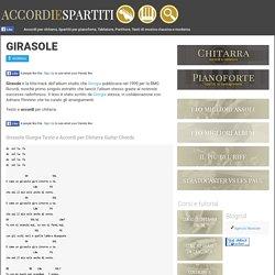 Giorgia Girasole Accordi Chords Testo Tab