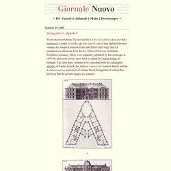 Giornale Nuovo: Steingruber's Alphabet