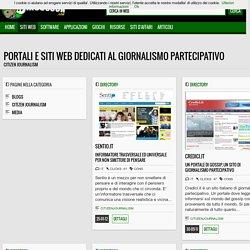 Citizen journalism - Portali e siti web dedicati al Giornalismo Partecipativo