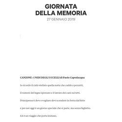 GIORNATA DELLAMEMORIA 2019