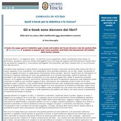 Giornata di studio 'Quali e-book per la didattica e la ricerca?'