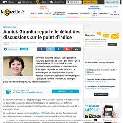 Annick Girardin reporte le début des discussions sur le point d'indice