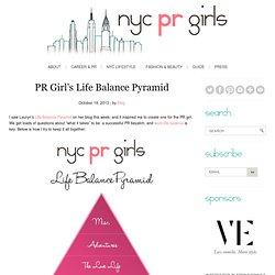PR Girl's Life Balance Pyramid