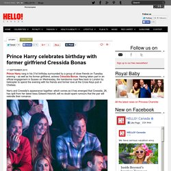 Prince Harry spends his birthday with former girlfriend Cressida Bonas - hellomagazine.com