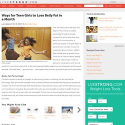 How to Lose Belly Fat Fast for Teens