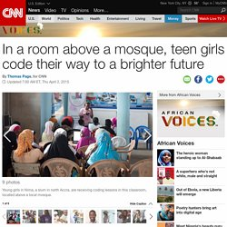 Teen girls coding their way to a brighter future