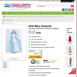 Girls Mary Costume - Fancy Dress and Party