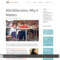 Girls Education, Why it matters