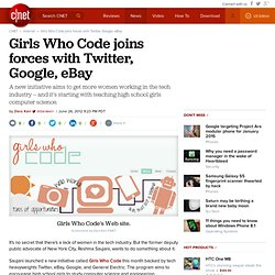 Girls Who Code joins forces with Twitter, Google, eBay
