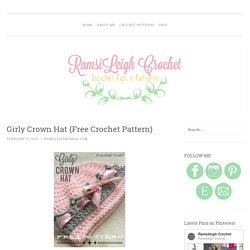 Girly Crown Hat {Free Crochet Pattern}