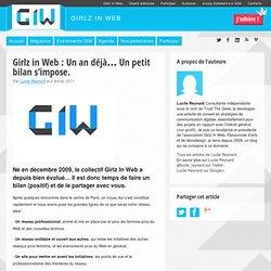 Girlz in Web : Un an déjà… Un petit bilan s'impose.