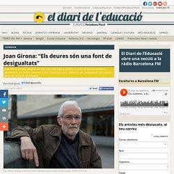 """Joan Girona: """"Els deures són una font de desigualtats"""""""
