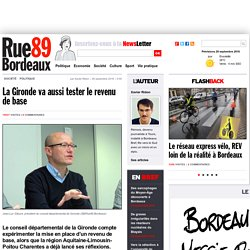La Gironde va aussi tester le revenu de base