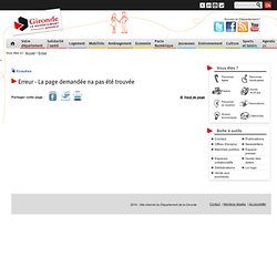 Département de la Gironde - Portail - Accueil