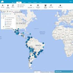 GIS Cloud Map Editor - Map 'Valores del Suelo - LAC'