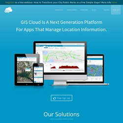 GIS in the Cloud | GIS Mapping Software | Visualize & Publish Maps