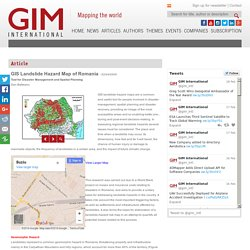 GIS Landslide Hazard Map of Romania