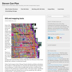 Steven can plan – GIS and mapping tools