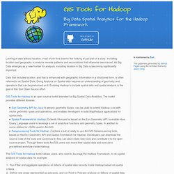 GIS Tools for Hadoop by Esri