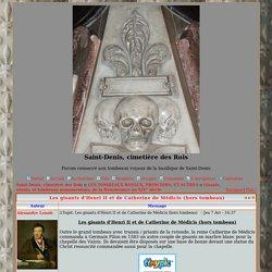 Les gisants d'Henri II et de Catherine de Médicis (hors tombeau)