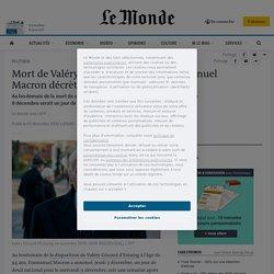 Mort de Valéry Giscard d'Estaing: Emmanuel Macron décrète un jour de deuil national