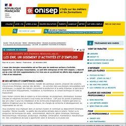 Les EnR, un gisement d'activités et d'emplois - Onisep