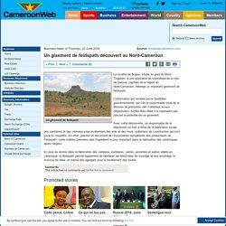 Un gisement de feldspath découvert au Nord-Cameroun