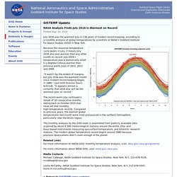 Data.GISS: GISTEMP Update: NASA Analysis Finds July 2016 is Warmest on Record