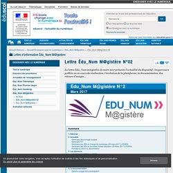 Lettre Édu_Num M@gistère N°02 — Enseigner avec le numérique