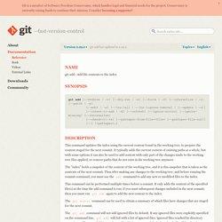 git-add Documentation