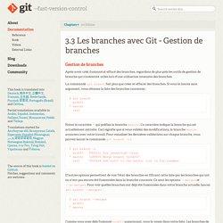 Git - Gestion de branches