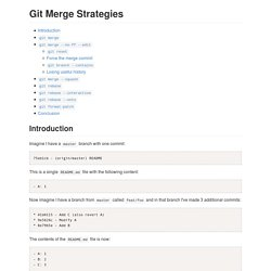 Git Merge Strategies