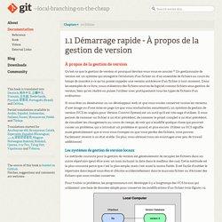 Git - À propos de la gestion de version