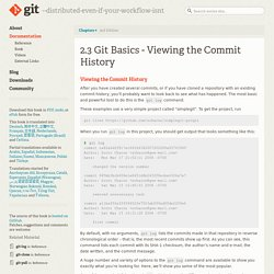 Git - Viewing the Commit History