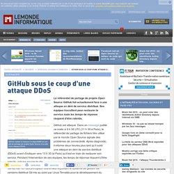 GitHub sous le coup d'une attaque DDoS