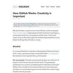 How GitHub Works: Creativity is Important