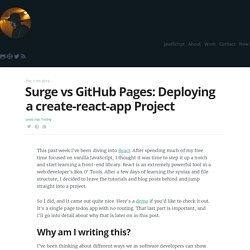 Surge VS GitHub Pages: How to deploy a create-react-app project