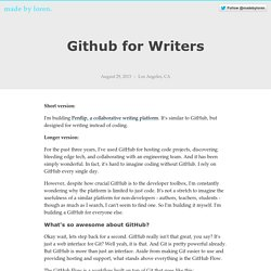 Github for Writers - Made By Loren