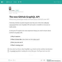 The new GitHub GraphQL API – Building Apollo – Medium
