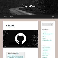 GitHub - Heap Of Tech